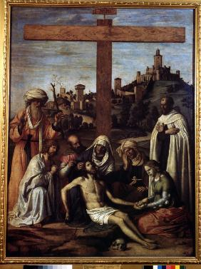 The Lamentation over Christ with a Carmelite Monk
