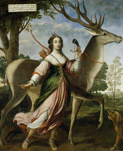Marie de Rohan-Montbazon (1600-79) Duchess of Chevreuse as Diana the Huntress
