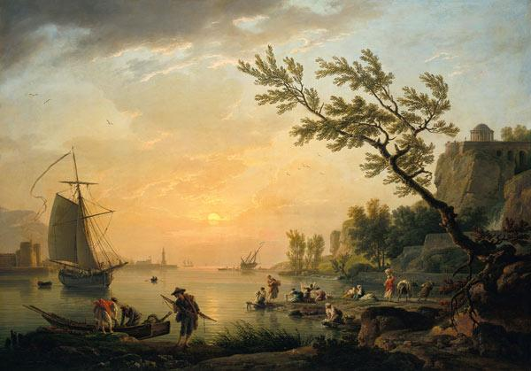 Seaport into evening atmosphere 1770