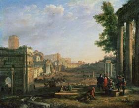 View of the Campo Vaccino, Rome