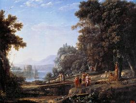 Countryside with Apollo and Marsyas.