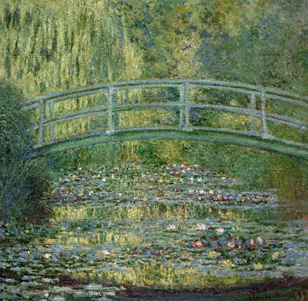 The Waterlily Pond with the Japanese Bri - Claude Monet as art ...