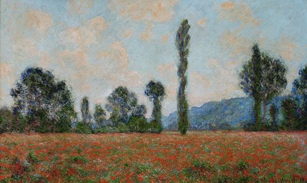 Champ des Coquelicots Mohnfeld - Claude Monet Kunstdrucke as art ...