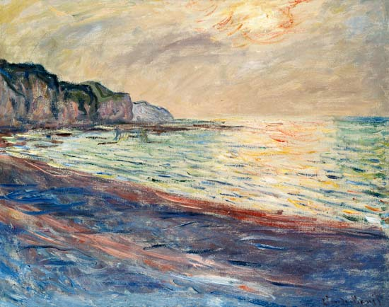 The Beach At Pourville Setting Sun Claude Monet As Art