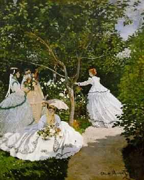 Ladies in the garden in Ville this ' Avray. 1867