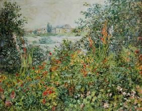 Monet, Claude : Summer flowers at Vetheuil