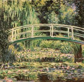 Monet, Claude : Bridge in Monets garden wi...