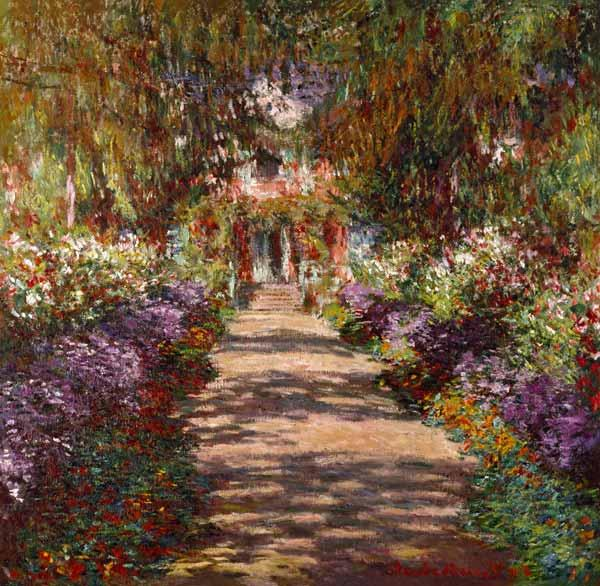Avenue in Giverny or Garden Path at Giverny 1902