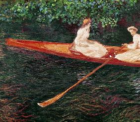 Boating on the river Epte, c.1889-1890