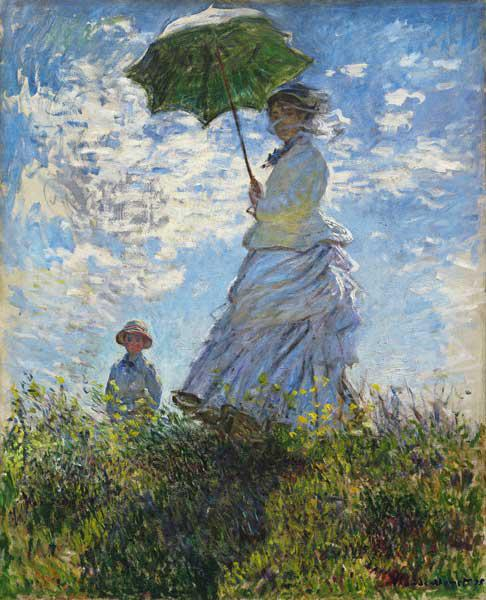 Monet, Claude : Woman with a Parasol, Mada...