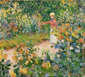 Monet Claude   Garden At Giverny