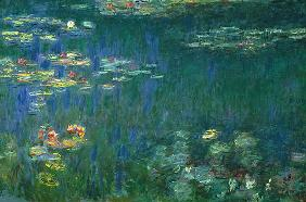 Water Lilies, Green Reflections, Left Part