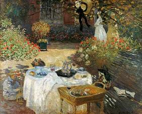 The Lunch (in Monet's Garden in Argenteuil) um 1873