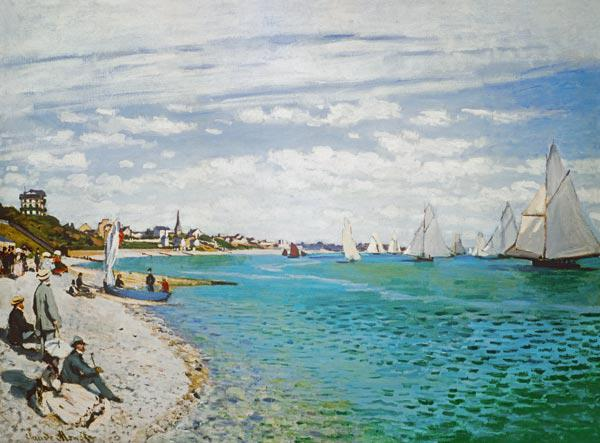 C.Monet, Regatta in Sainte-Adresse
