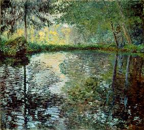 Pond in the park of Montgeron