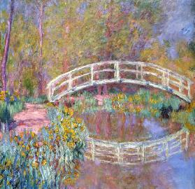 Bridge in Monets Garden (Pont dans le Jardin de Monet). 1895-96