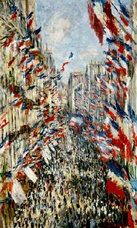 C.Monet, Rue Montorgeuil on 30 June 1878