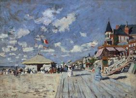 Monet, Claude : On the beach of Trouville