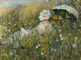 In the flower meadow (Dan of La Prairie) 1876