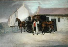 A Groom Holding a Carriage Team