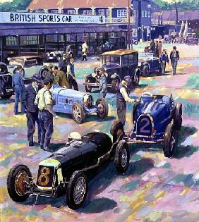 Brooklands Heyday (oil on canvas)