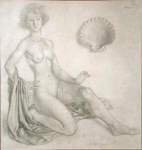 Study for Venus & Cupid, 1924 (pencil on paper)