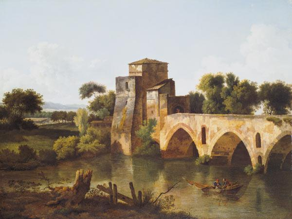 River Scene with a Fisherman