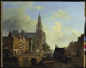 Imagination view of Antwerp