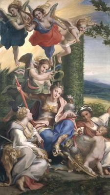 Allegory of the Virtues, c.1529-30 (tempera on canvas)