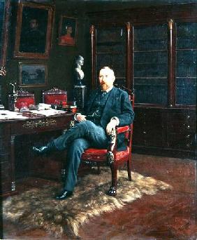 Portrait of Paul Marmottan (1856-1932) in his Study