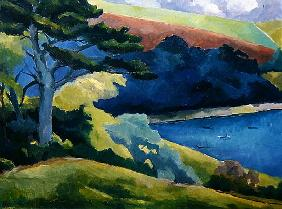 Helford Passage, Cornwall (oil on canvas)