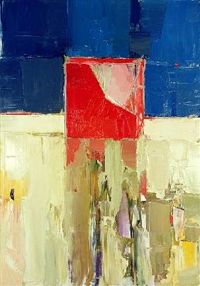 Red cube (oil on canvas)