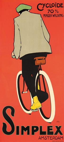 A poster advertising Simplex Amsterdam bicycles