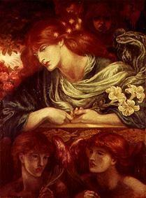 Rossetti, Dante Gabriel : The unmarried noblewoman (...