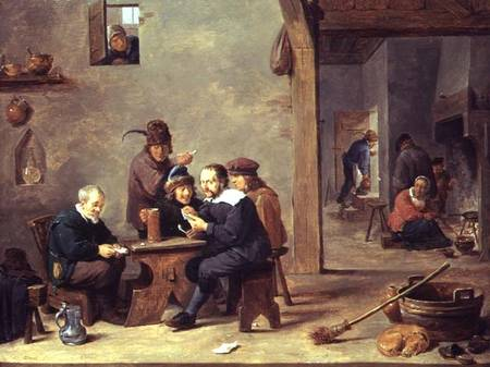 The Card Players David DJ Teniers As Art Print Or Hand Painted Oil - Who painted the card players