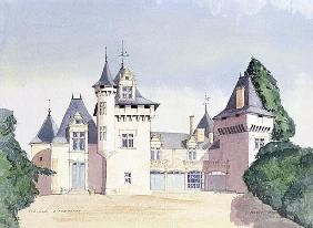 Chateau a Fontaine, 1995 (w/c)