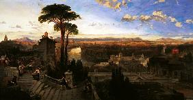 Rome, twilight, view from the Convent of San Onofrio on Mount Janiculum, c.1853-55