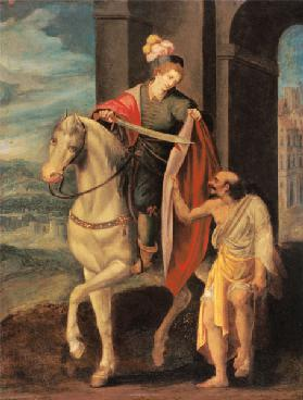 St. Martin shares his Coat with a Beggar