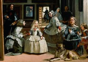 Las Meninas, detail of the lower half depicting the family of Philip IV (1605-65) of Spain