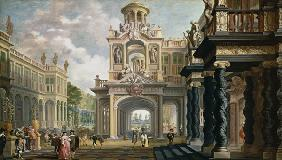 van Delen, Dirck : Great Gardenpalace (figure...