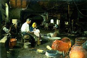 Lunchtime in the boiler smithy
