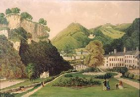Matlock Bath from the grounds of the Bath Hotel