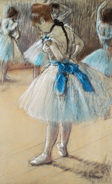 Dancer pastel Edgar Degas as art print or hand painted