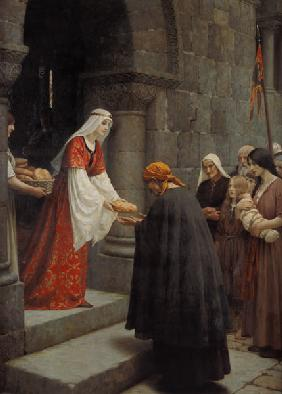 St. Elisabeth of Hungary boards the poor