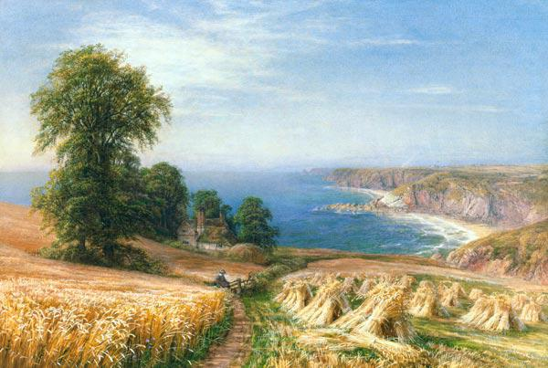 Warren, Edmund George : Harvest time by the Sea