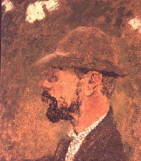 Portrait of Henri de Toulouse-Lautrec (1864-1901) c.1897-98 (oil on canvas)