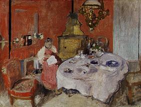 The dining room (MmeVuillard Dan of La salle at manger)