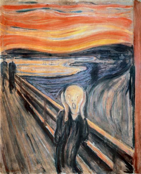 The Scream - Edvard Munch as art print or hand painted oil.
