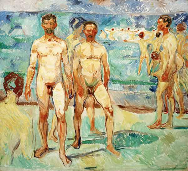 Men on the Beach