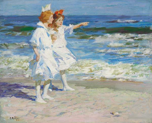 45816f32e5 Mädchen am Strand. - Edward Henry Potthast as art print or hand ...